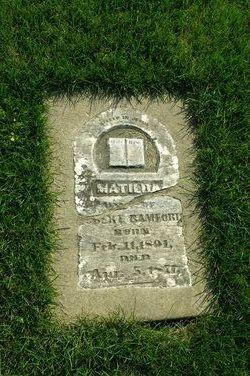 "Matilda ""Hattie"" <I>Ludington</I> Bamford"