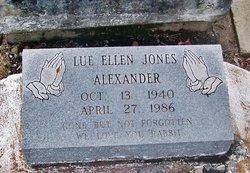 Lue Ellen <I>Jones</I> Alexander