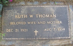 Ruth Winifred <I>Eppley</I> Thoman
