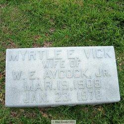 Myrtle E <I>Vick</I> Aycock