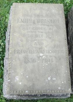 Emily <I>Hooper</I> Webster