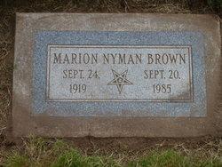 Marion <I>Nyman</I> Brown