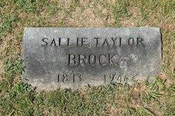 """Sarah Isabel """"Sallie Belle"""" <I>Taylor</I> Brock"""