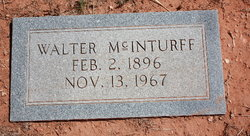 "Walter Alfred ""Dee"" McInturff"