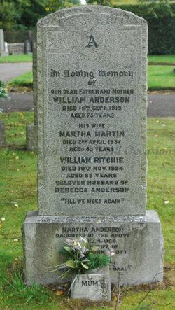 Martha <I>Martin</I> Anderson