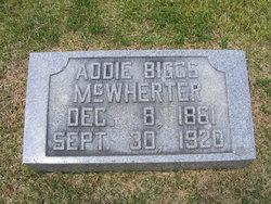 "Rebecca Adaline ""Addie"" <I>Biggs</I> McWherter"