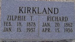 "Zelphia Lee ""Zilphie"" <I>Taylor</I> Kirkland"