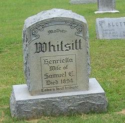 Henrietta <I>Trottie</I> Whitsitt