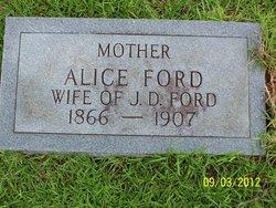 Alice <I>Gibson</I> Ford
