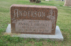 Annie L <I>Hecht</I> Anderson