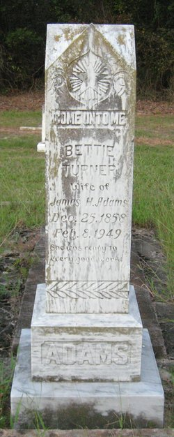 Bettie <I>Turner</I> Adams
