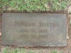 """John Hermann """"Herman"""" Koethe"""