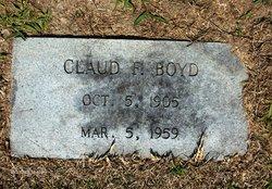 Claud F Boyd