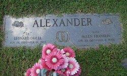 """Helen """"Marie"""" <I>Franklin</I> Alexander"""
