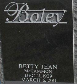 Betty <I>McCammon</I> Boley