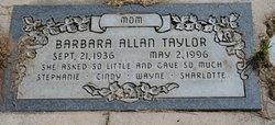 Barbara <I>Allan</I> Taylor