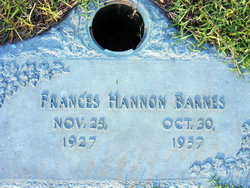 Frances <I>Hannon</I> Barnes