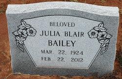 Julia <I>Blair</I> Bailey