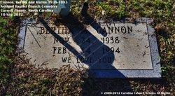 Bertha Ann <I>Martin</I> Cannon