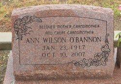 Ann <I>Wilson</I> O'Bannon