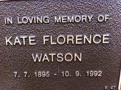 "Kate Florence ""Florrie"" <I>Carrington</I> Watson"