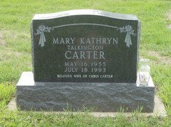 Mary Kathryn <I>Talkington</I> Carter