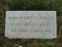 Marian Louise <I>Greely</I> Ackley