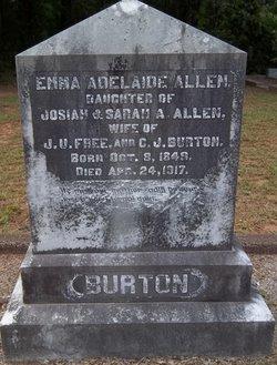 Emma Adelaide <I>Allen</I> Burton