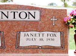 Margie Janett <I>Fox</I> Benton