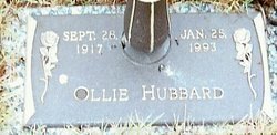 Ollie <I>Johnson</I> Hubbard