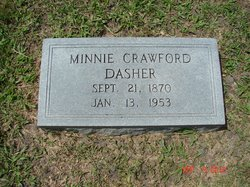 Minnie <I>Crawford</I> Dasher