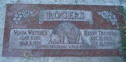 Vonda <I>Whitlock</I> Rogers