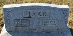 Mary E <I>Troutman</I> Haak