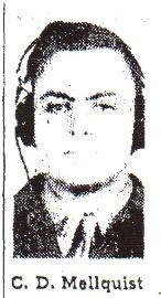 2Lt Charles D Mellquist