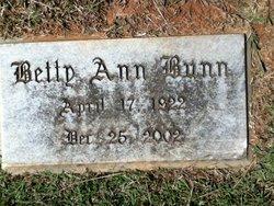Betty Ann <I>Yates</I> Bunn