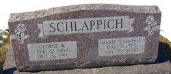 Marie T <I>Hartman</I> Schlappich