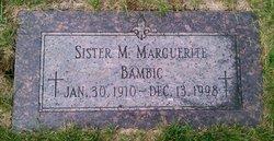 Sr M. Marguerite Bambic