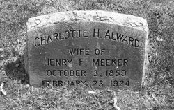 "Charlotte H ""Lottie"" <I>Alward</I> Meeker"