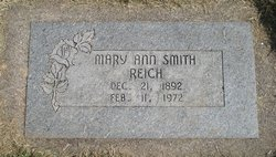 Mary Ann <I>Smith</I> Reich