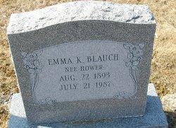 Emma K <I>Hower</I> Blauch