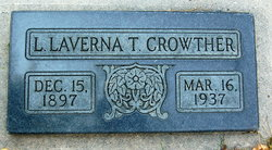 Laura Laverna <I>Taylor</I> Crowther