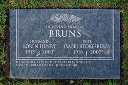 Isabel <I>Stokesberry</I> Bruns