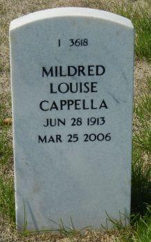 """Mildred """"Millie"""" <I>Johnston</I> Cappella"""