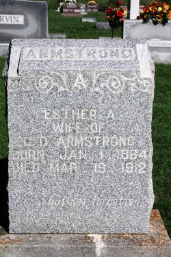 Mrs Esther Ann <I>Downen</I> Armstrong