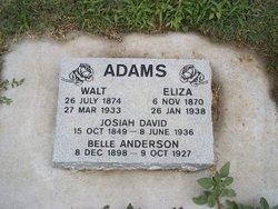 """Elizabeth """"Eliza"""" <I>Adams</I> Adams"""