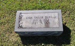 Lyda <I>Taylor</I> Durham