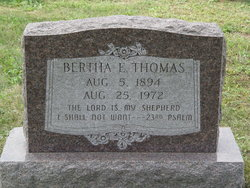 Bertha E. Thomas