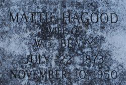 Mattie Patrick <I>Hagood</I> Beaty