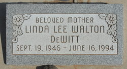 Linda Lee <I>Walton</I> De Witt