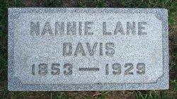 Nannie <I>Lane</I> Davis